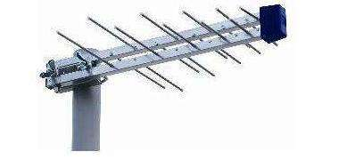 Compact wide band aerial for Saorview reception
