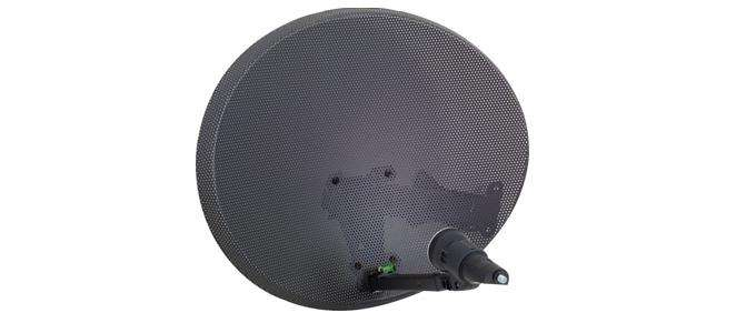 60 cm Mesh dish   including  LNB  and wall mounting bracket.